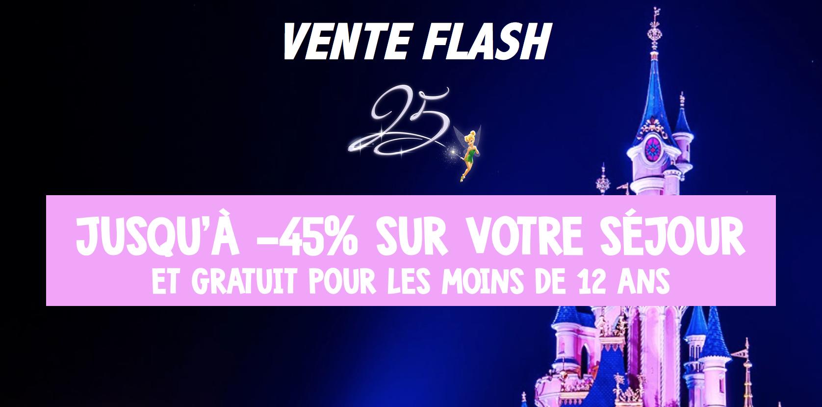 Disneyland paris vente flash exceptionnelle jusqu 39 45 et gratuit pour les de 12 ans - Date des soldes ete 2017 paris ...