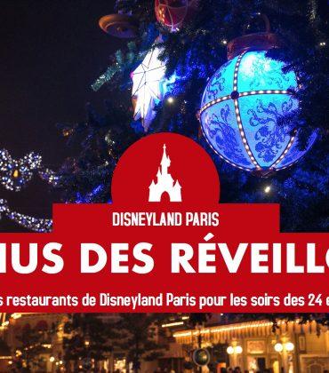 Les menus des Réveillons de Noël et du jour de l'An de Disneyland Paris