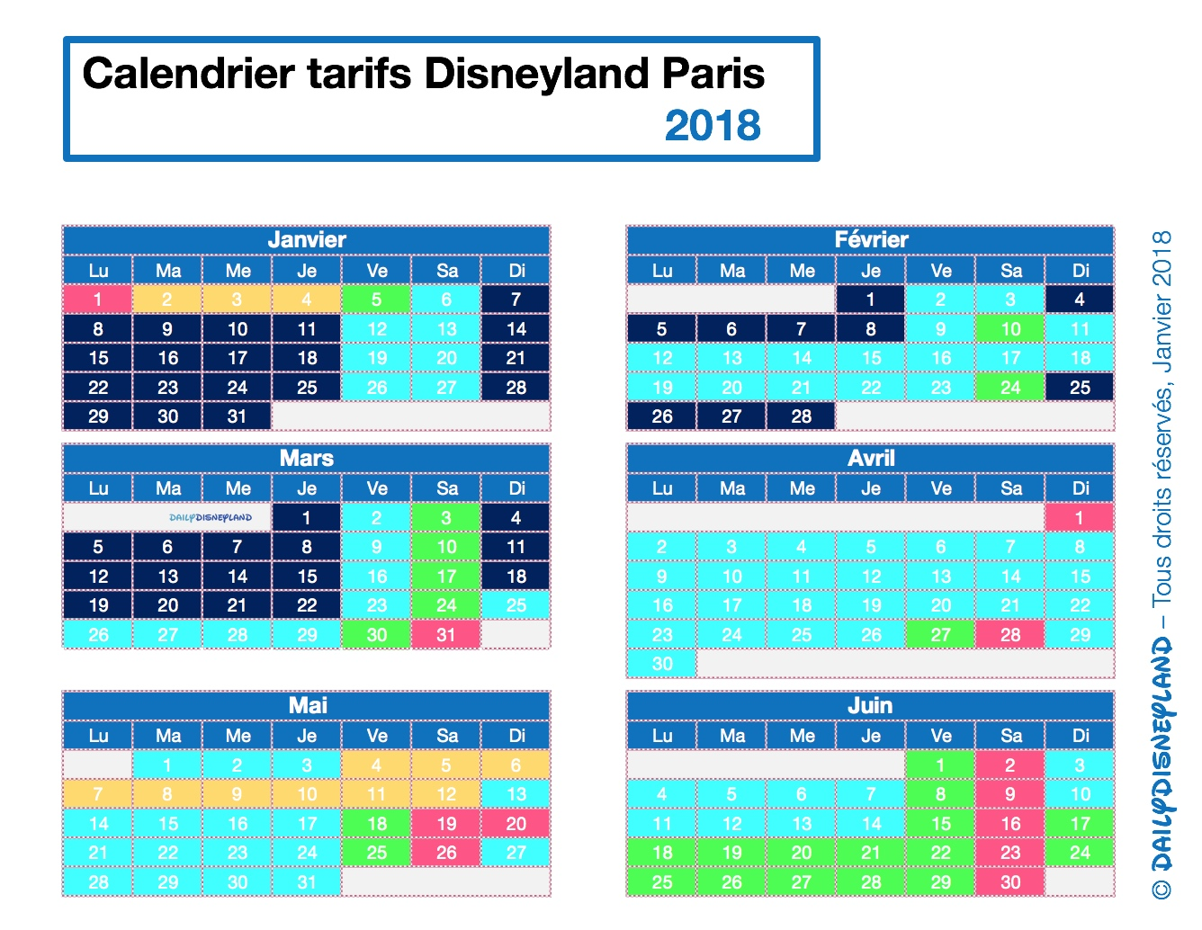 Disneyland paris pas cher calendrier des dates les moins ch res de 2018t daily disneyland - Date des saisons 2016 ...