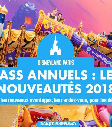 Pass Annuels : Les Nouveautés 2018