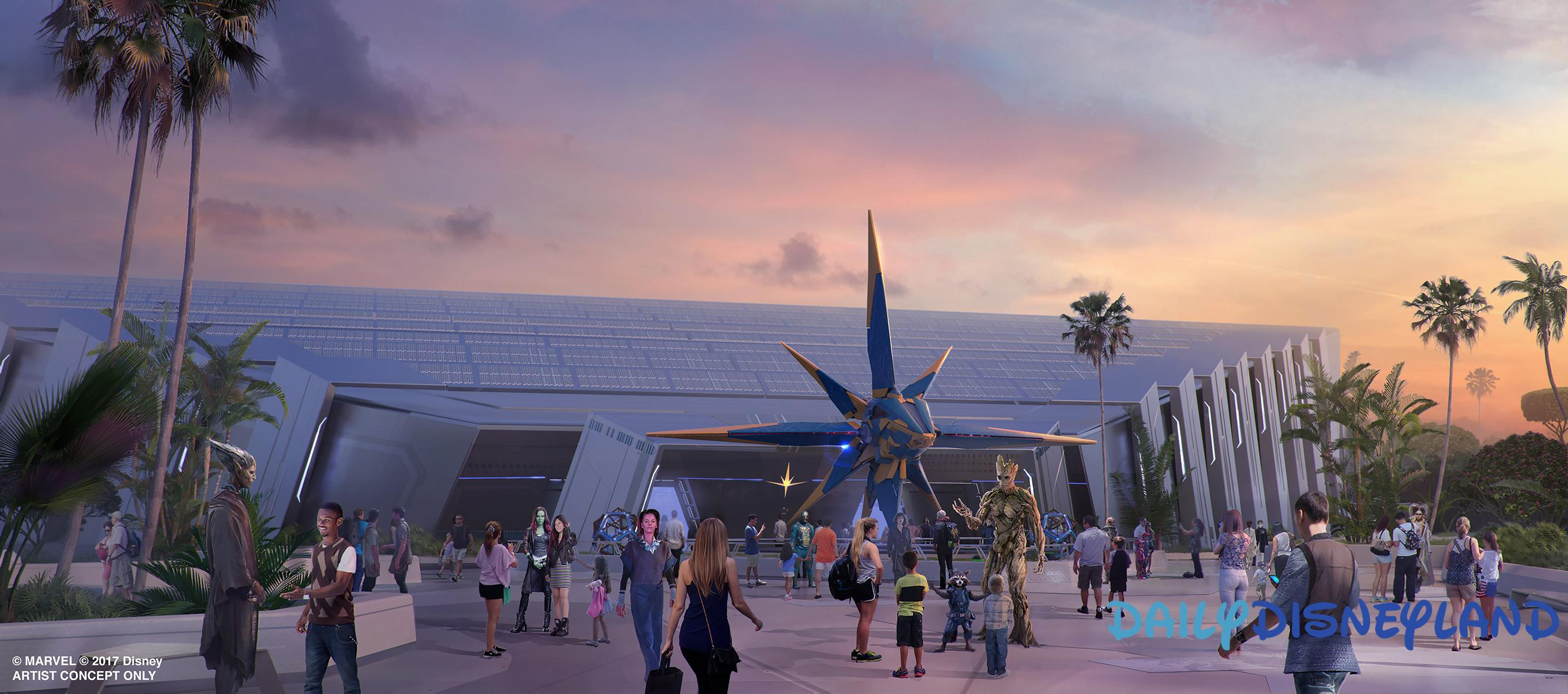 L'attraction des Gardiens de la Galaxie d'Epcot, concept-art