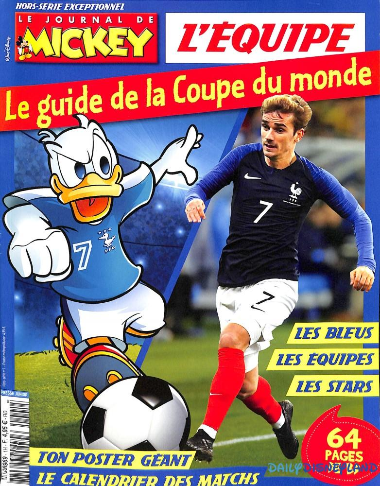 journal de mickey coupe du monde 2018 foot