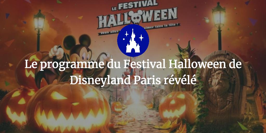 Le programme du Festival Halloween de Disneyland Paris révélé