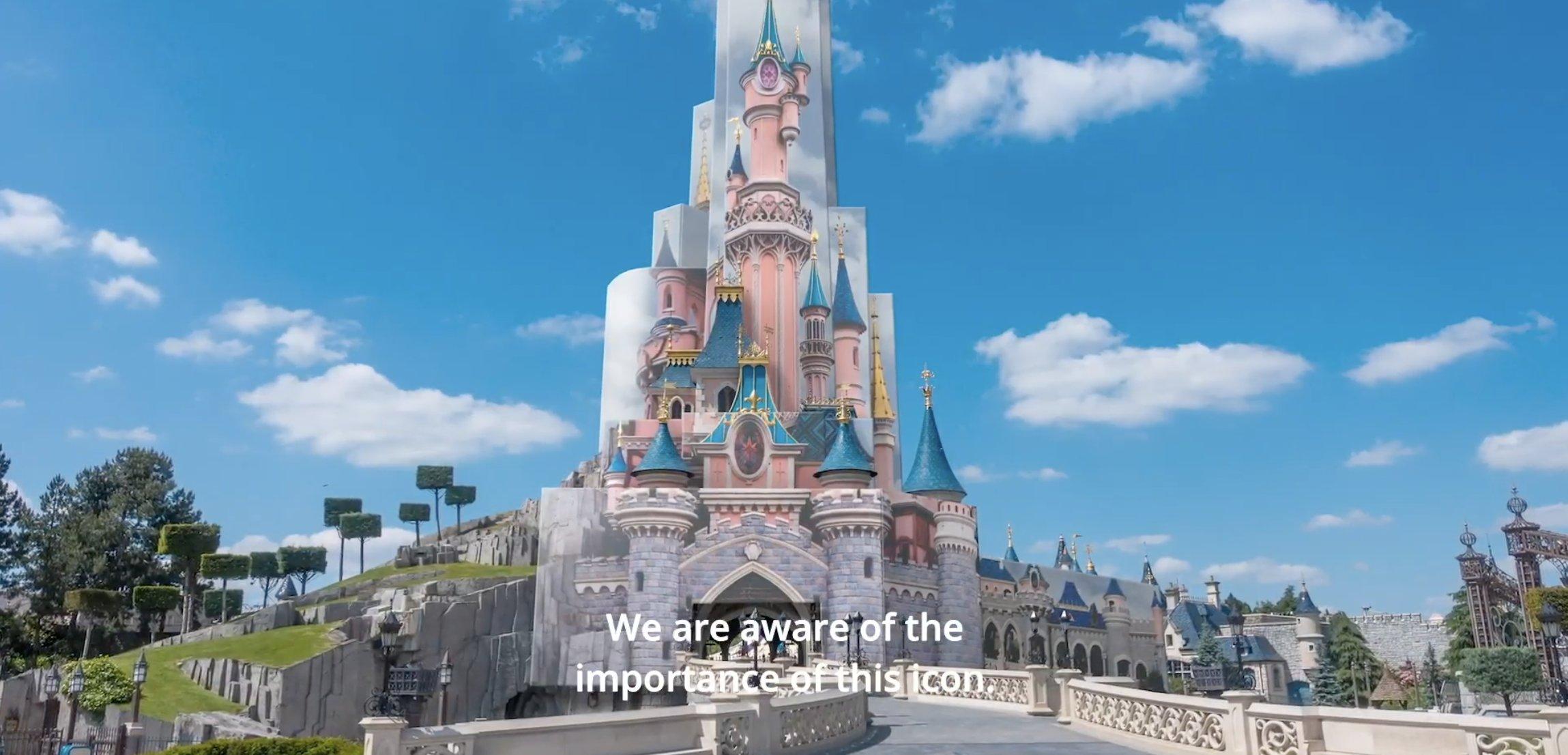 rénovation chateau disneyland paris
