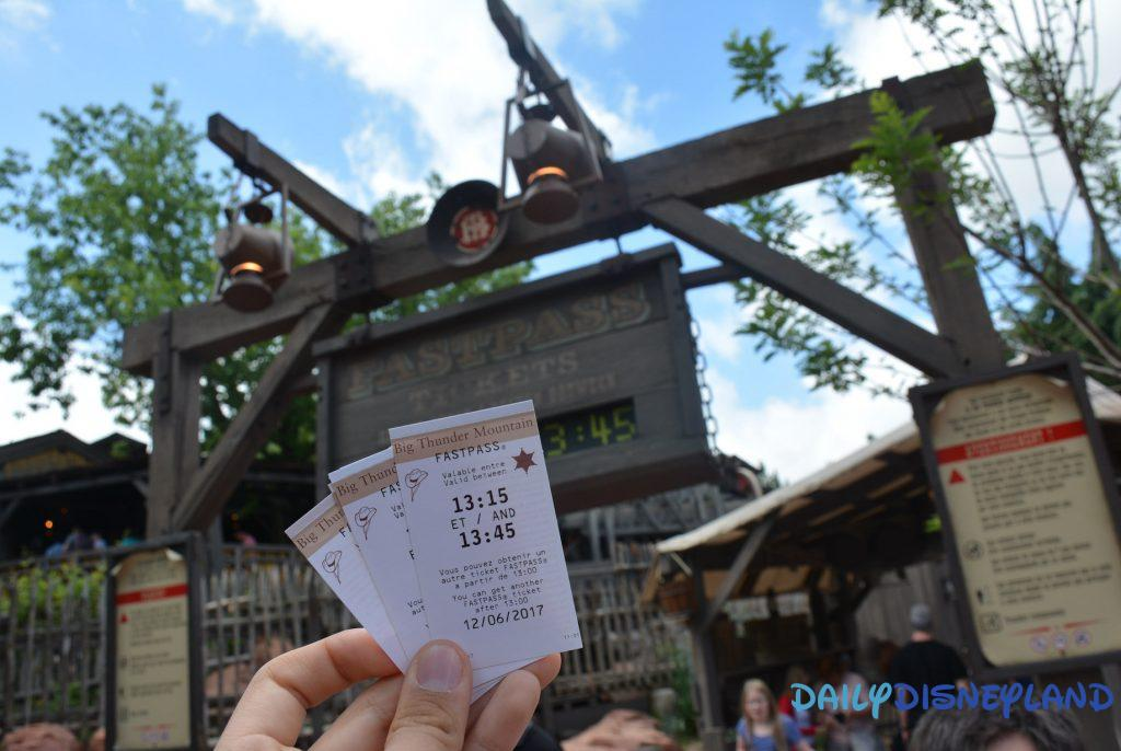 Fastpass Disneyland Paris Train de la mine