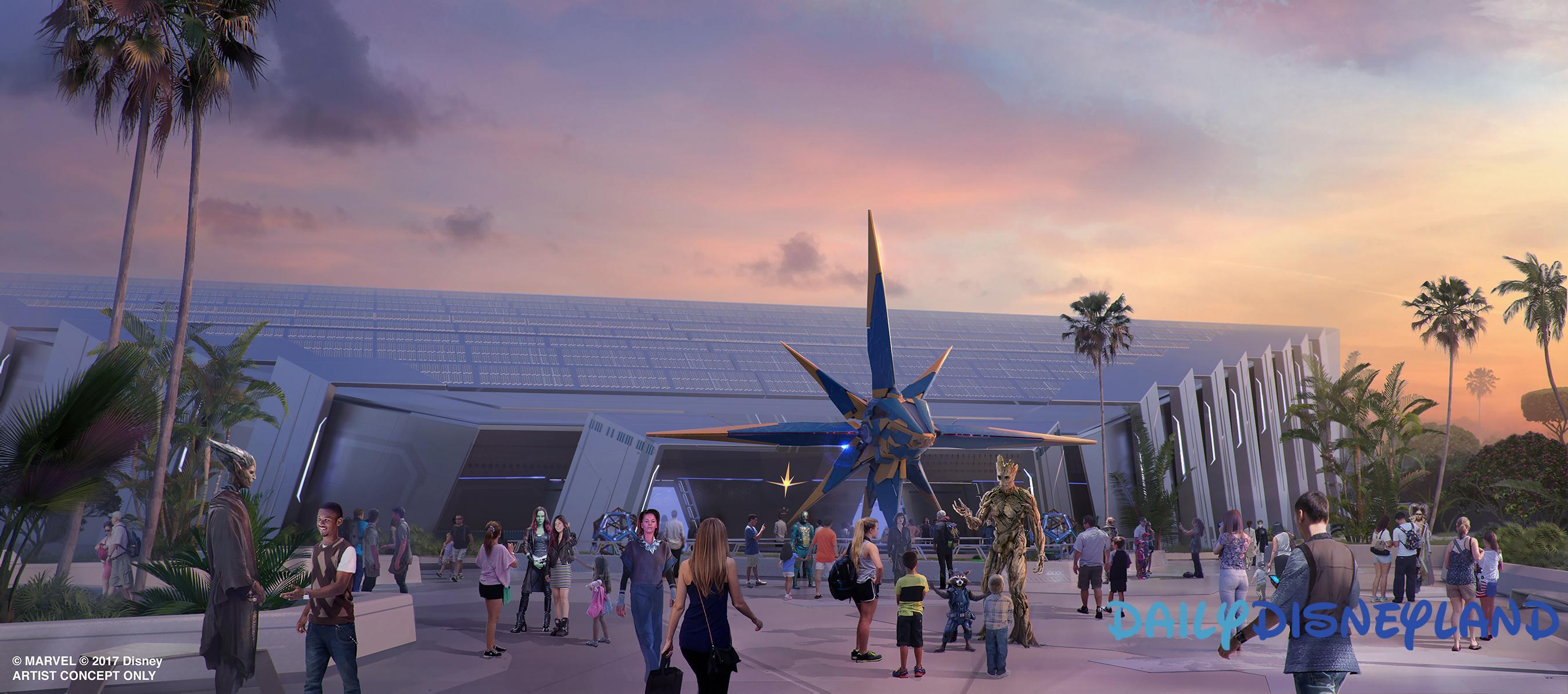 L'attraction des Gardiens de la Galaxie d'Epcot, concept-art