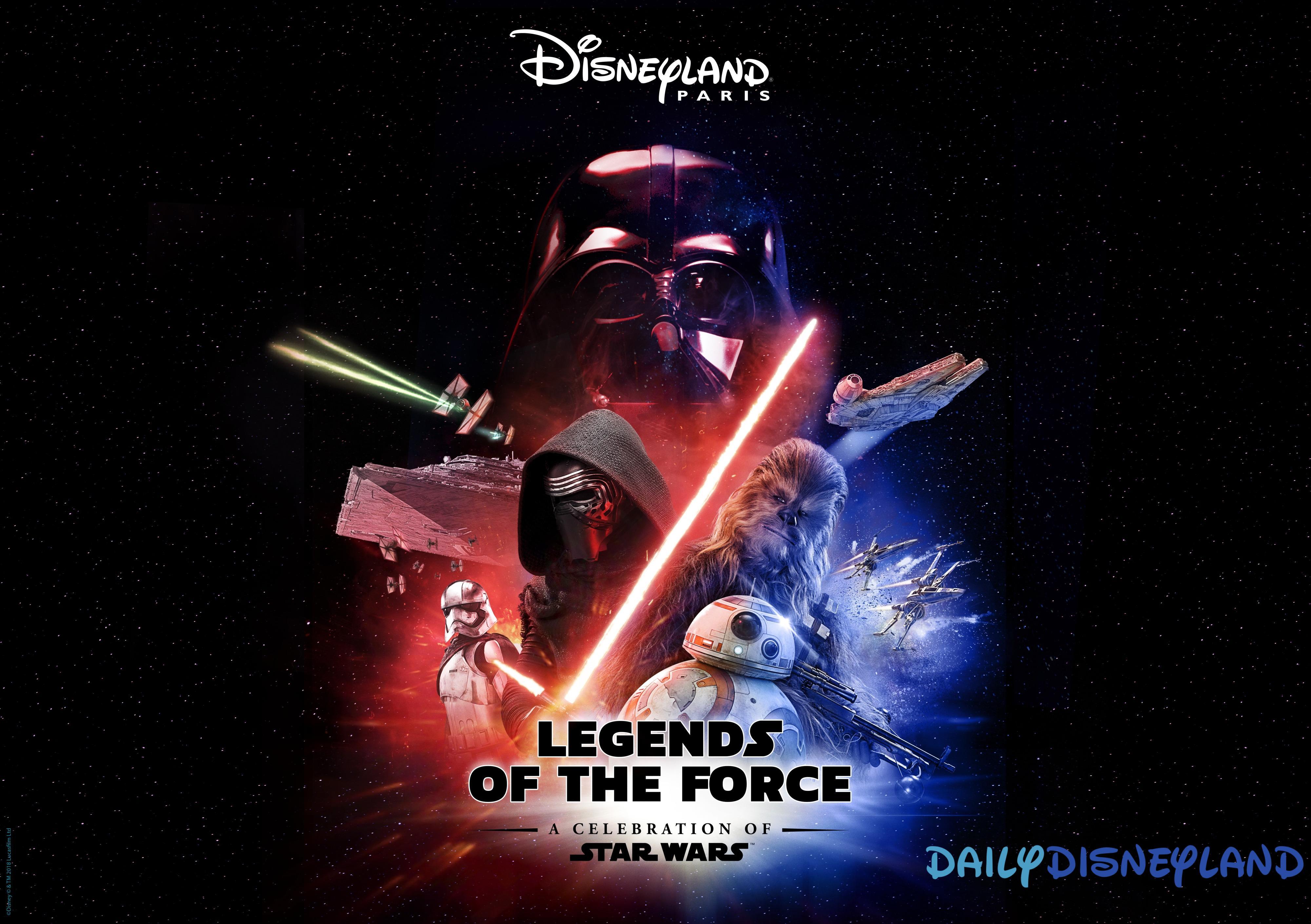 dates saisons disneyland paris 2019 star wars legendes de la force star wars