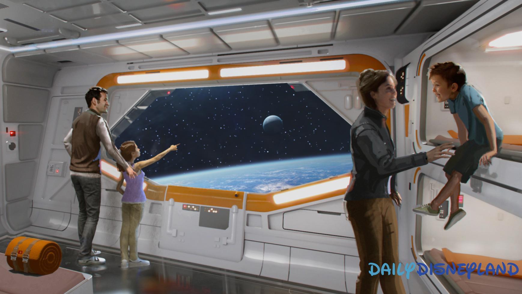Concept-art d'une chambre de l'hôtel Star Wars