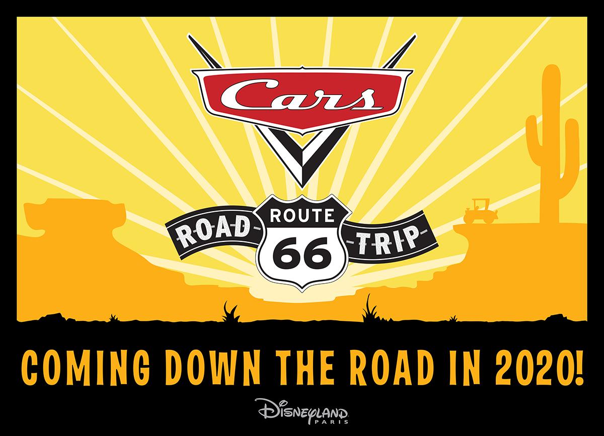 cars route 66 road trip nouveautés disneyland paris 2020