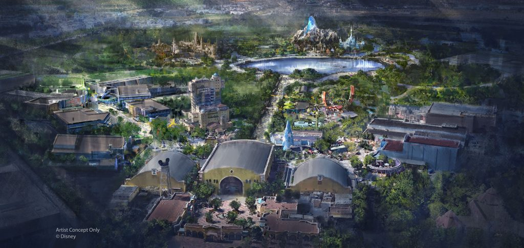 plan expansion parc walt disney studios disneyland paris