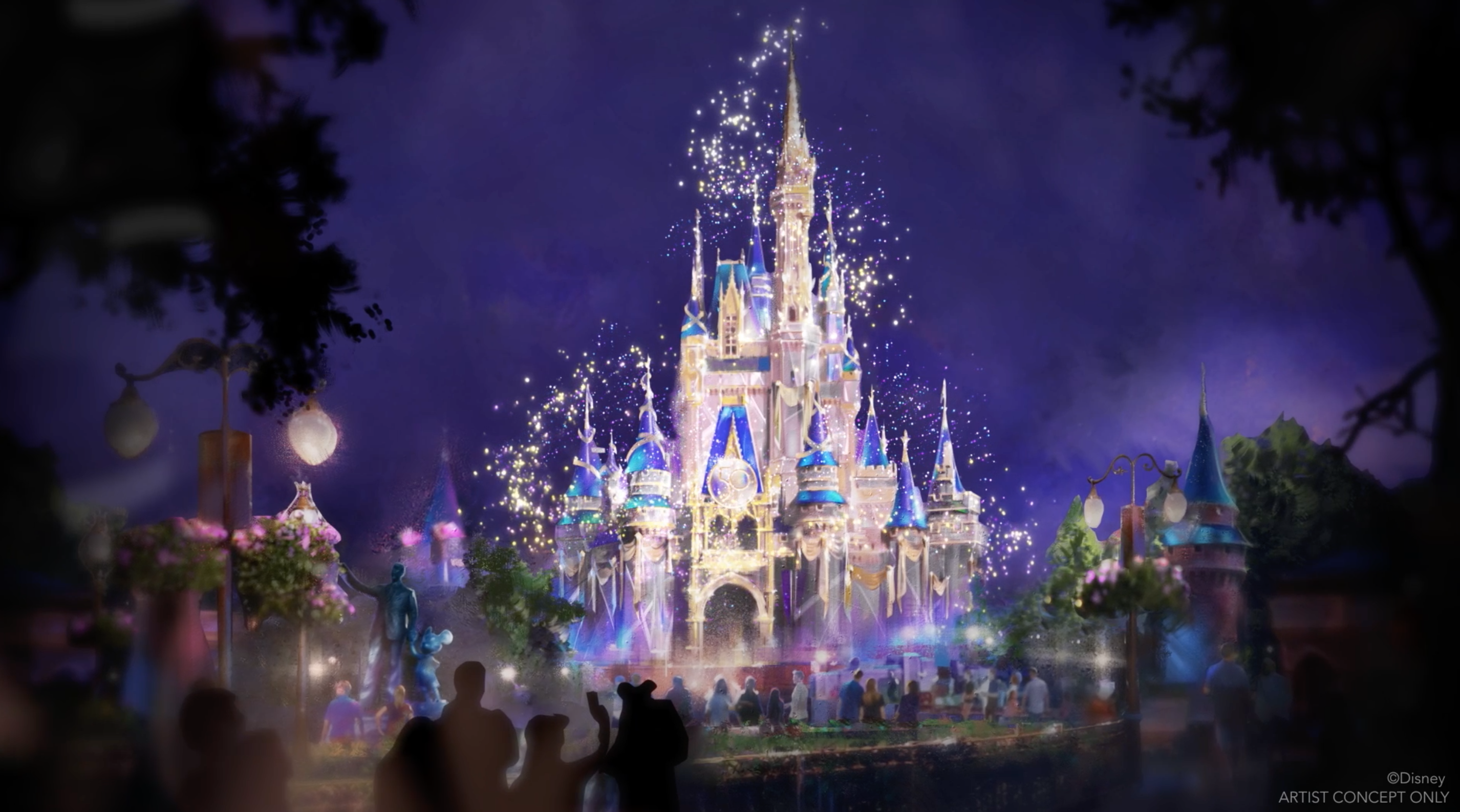 chateau walt disney world 50 ans 50e anniversaire