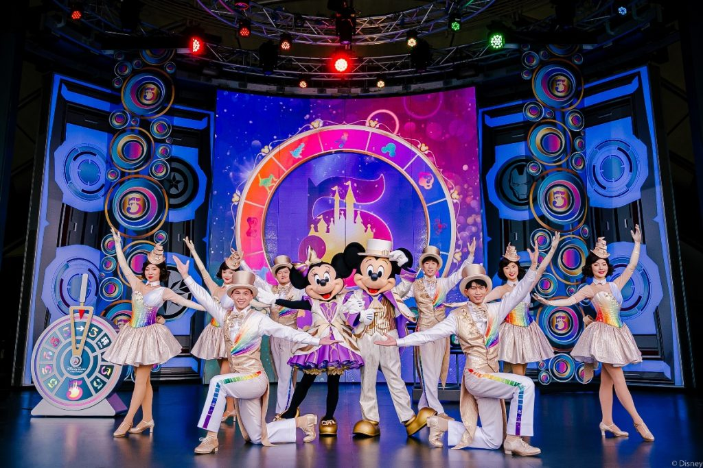 shanghai disneyland 5e anniversaire