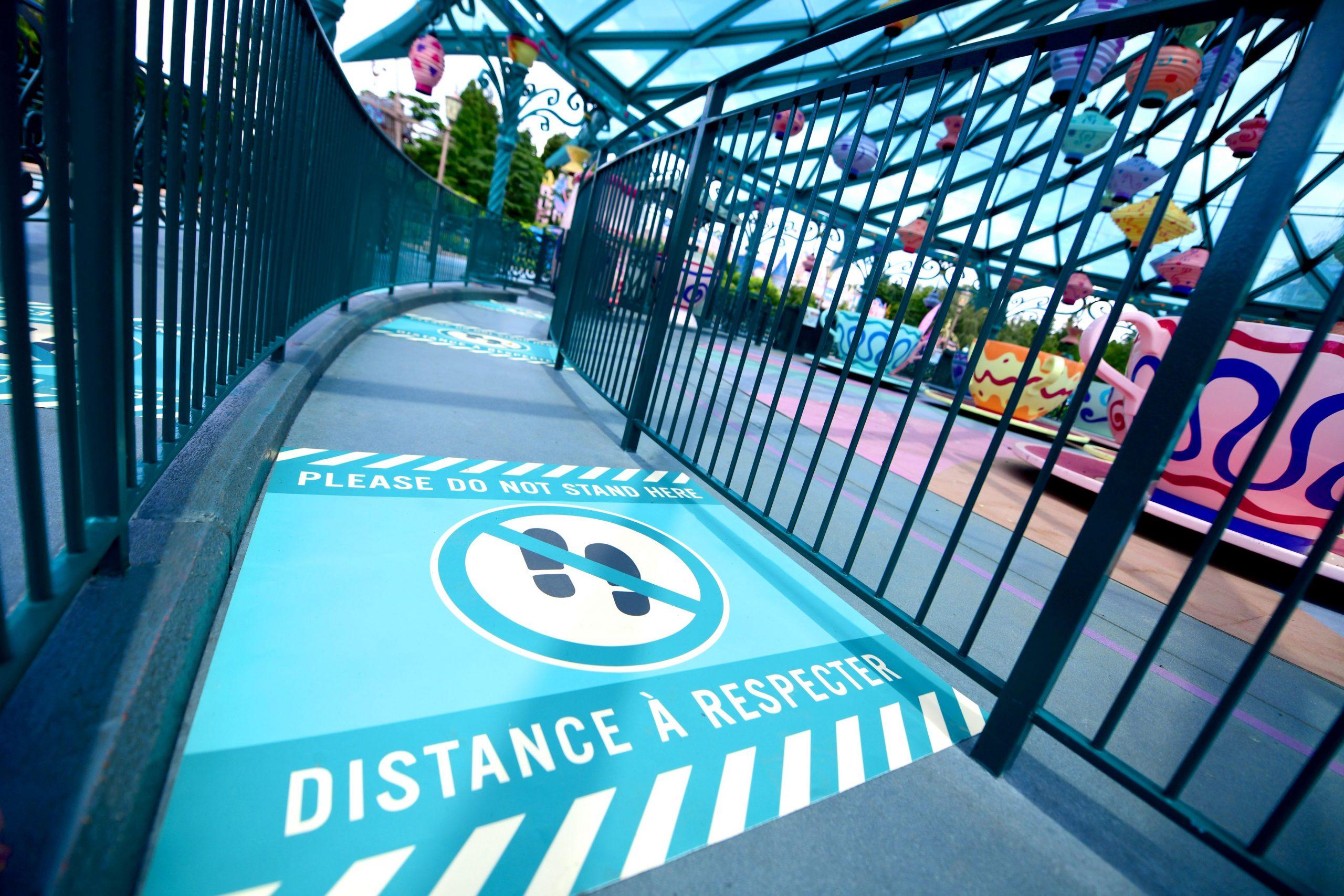 mesures covid  disneyland paris distances réouverture disney