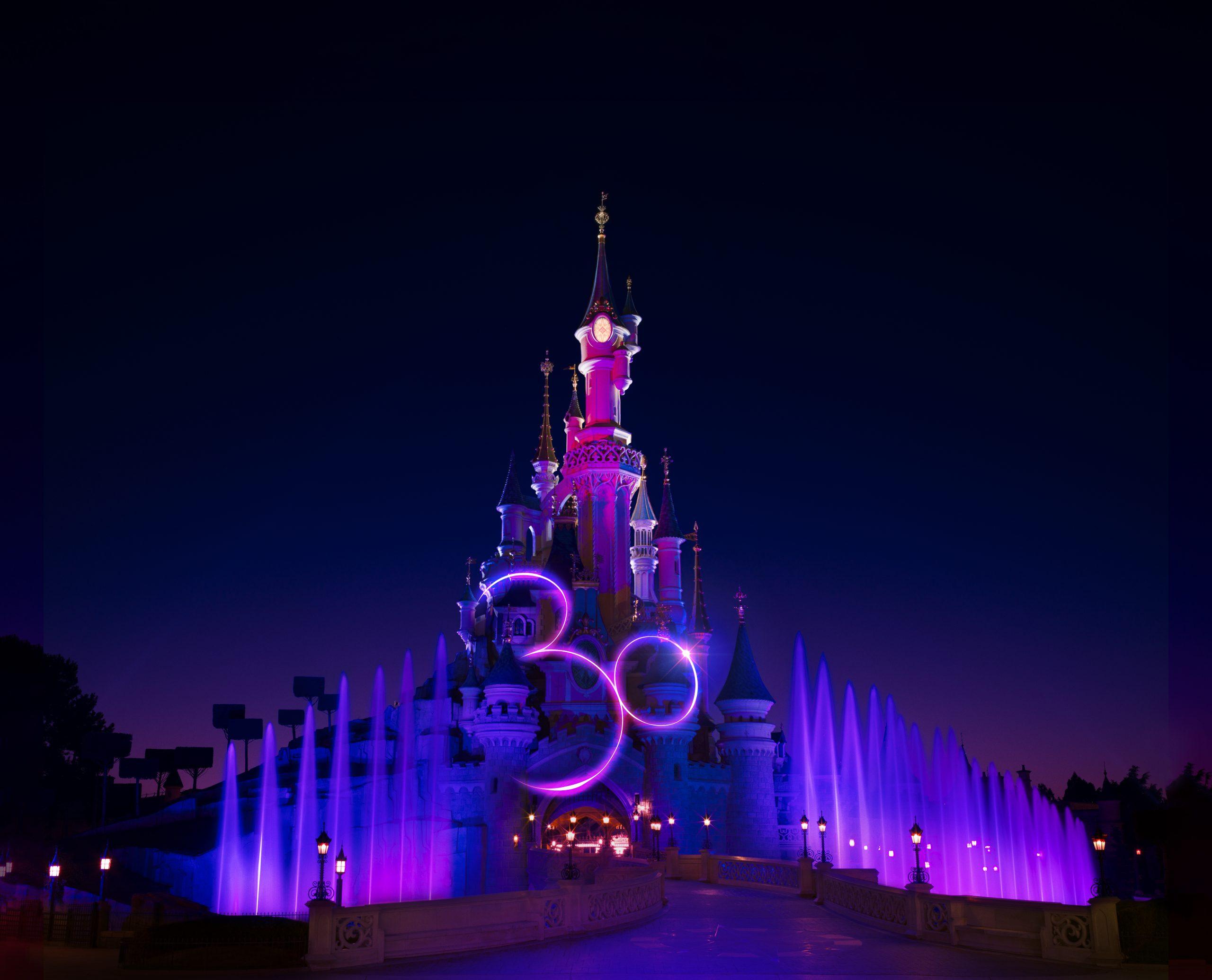 chateau disneyland paris 30 ans 30e anniversaire